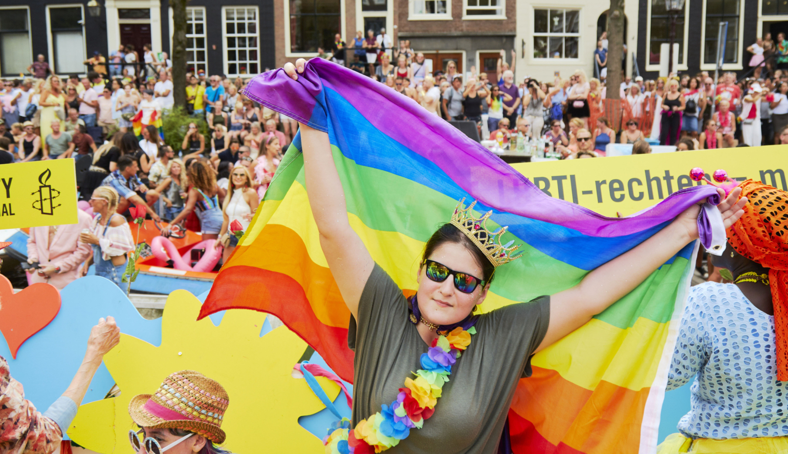 LGBTI activist Vitalina Koval from Ukraine - Canal Parade Amsterdam - Amnesty International in the Netherlands - Photo Credit: Photo Pierre Crom for Amnesty International